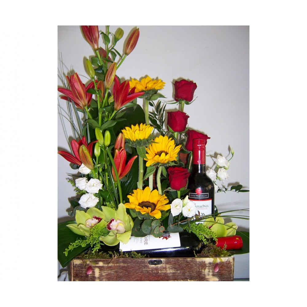Joy flowers and wines