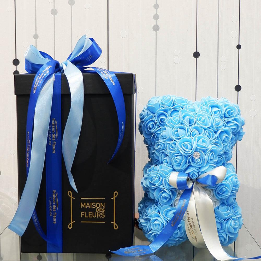 Forever teddy bear blue