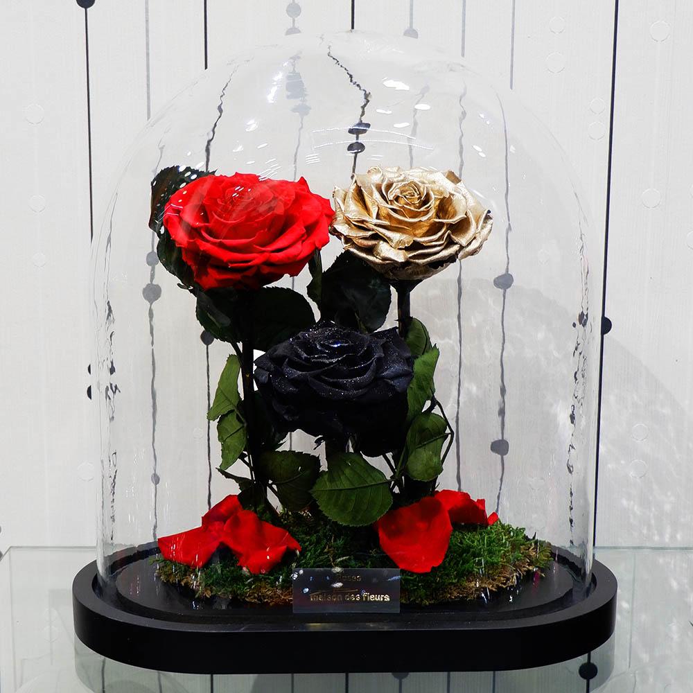 Forever Roses - Forever Red Gold Black