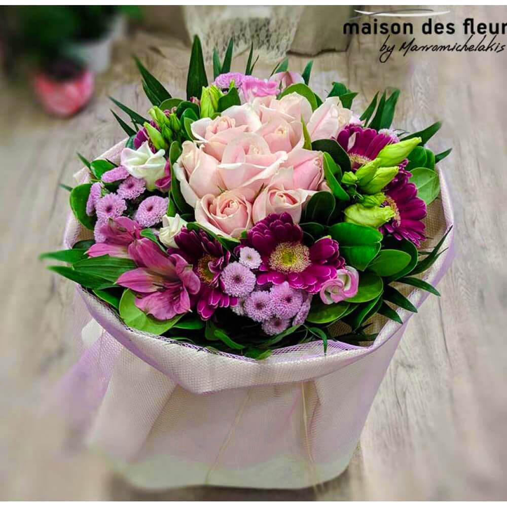 Μπουκέτο - Ανθοδέσμη Roby| Ανθοπωλείο Maison des fleurs