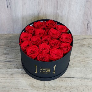Red Roses hat box black