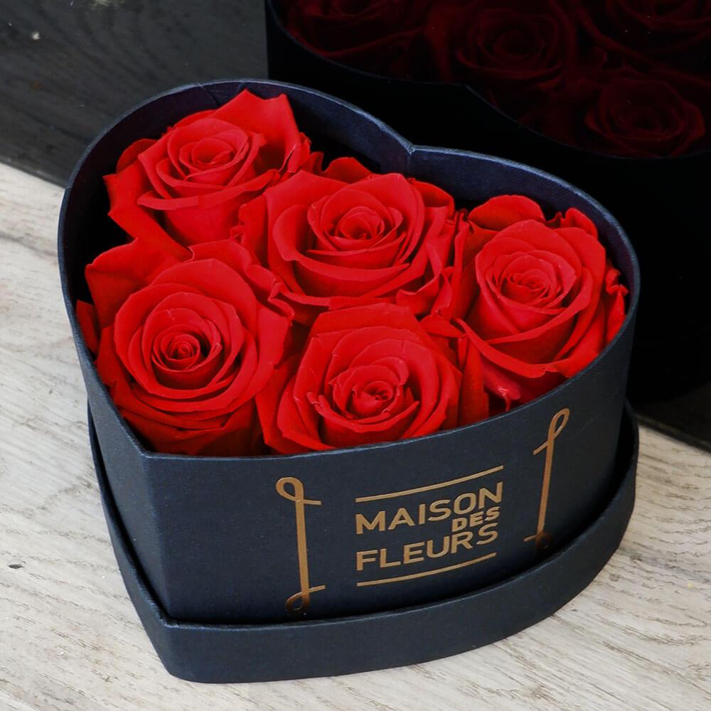 Forever Roses - Forever Red Roses Heart Box