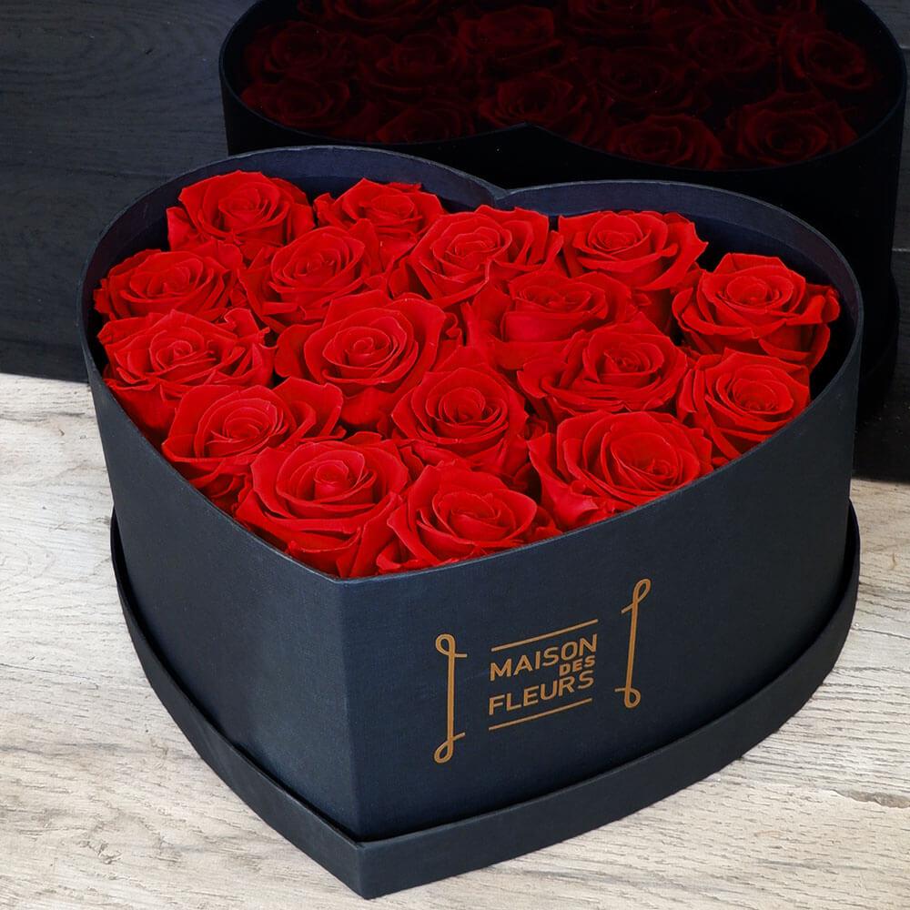 Forever Roses - Forever Red Roses Big Heart Box