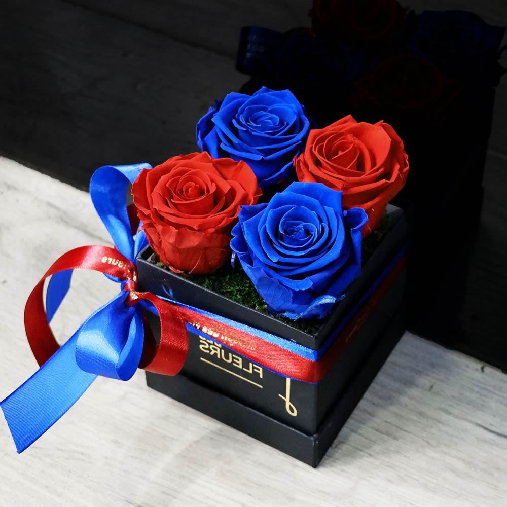 Forever Roses - Forever Red Blue Box