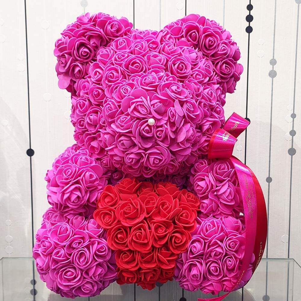 Forever teddy bear Big Fuchsia