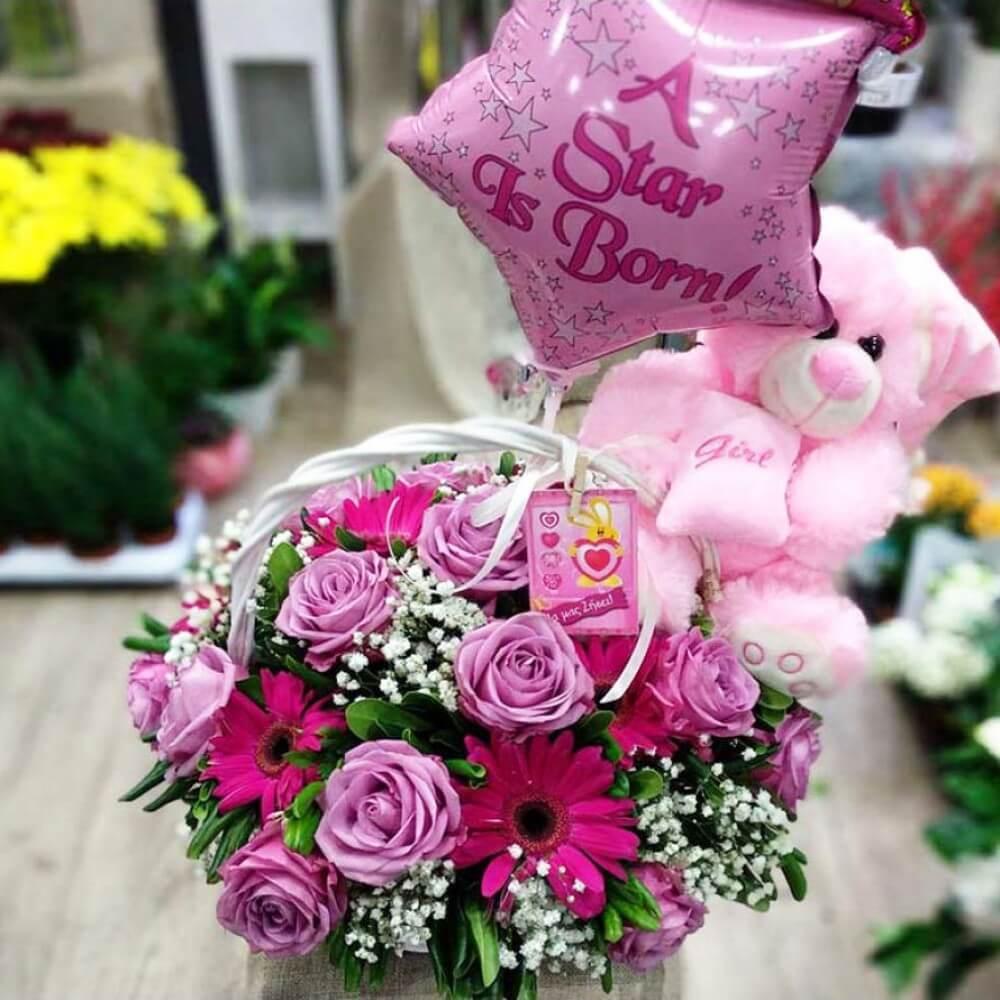 Ροζ καλάθι