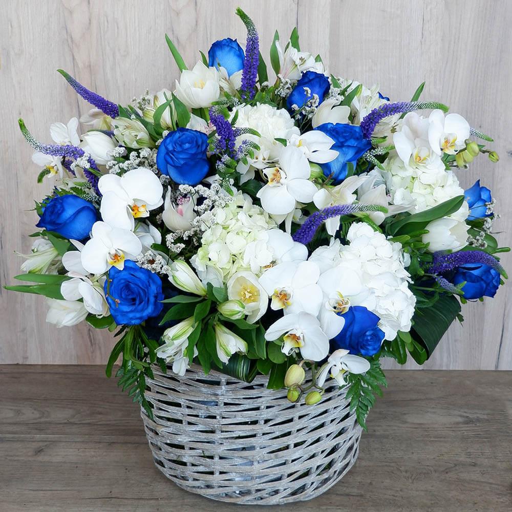 Συνθέσεις Λουλουδιών - Καλοκαιρινό Καλάθι   Ανθοπωλείο Maison des fleurs