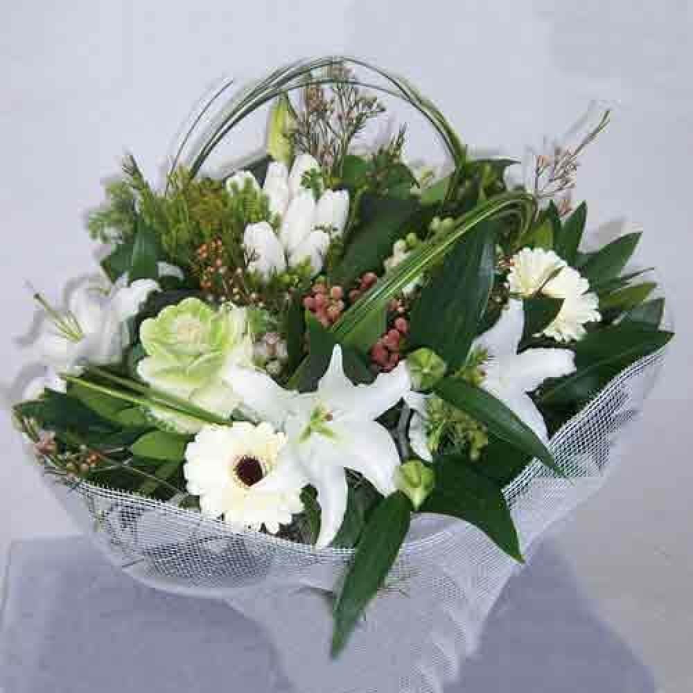 Ανθοδέσμη - Μπουκέτο - Μπουκέτο - Ανθοδέσμη Λευκή αίσθηση | Ανθοπωλείο Maison des fleurs