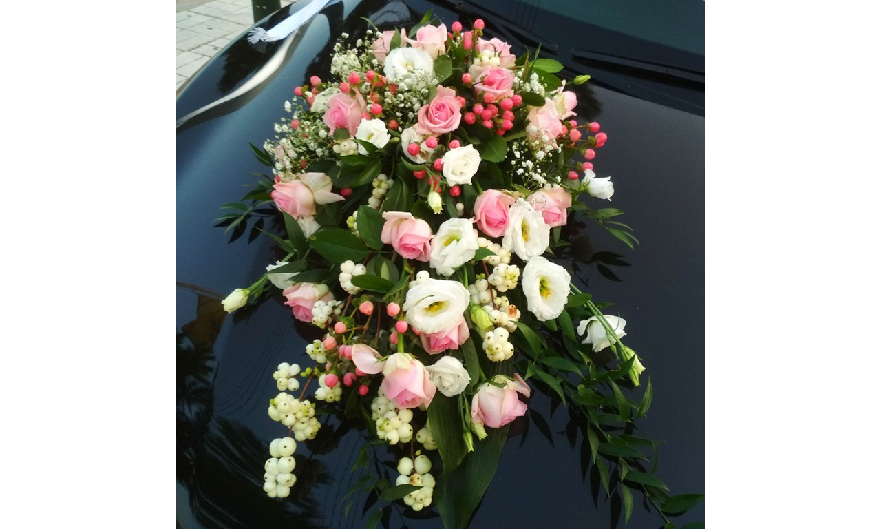 Silver Line - Flower arrengement in pink & white colors!