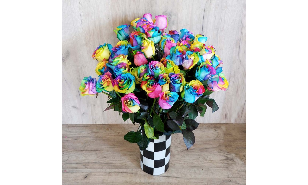 Rainbow Rose - Create your own bouquet with the rainbow roses!