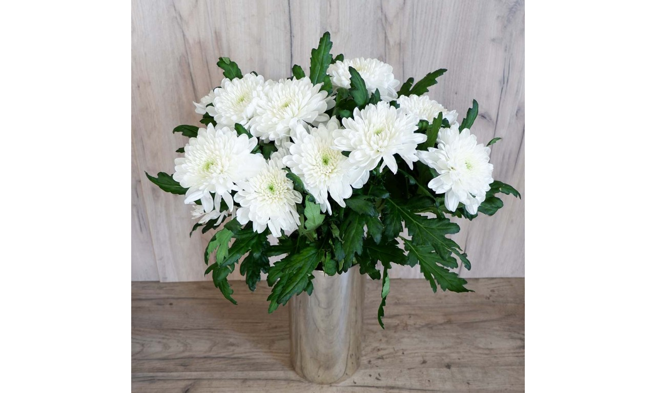 White chrysanthemum one head - Create your own bouquet with White chrysanthemums One Head!