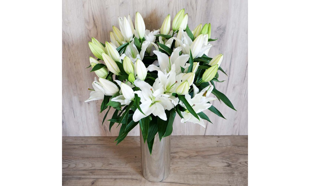 White Oriental Lilies - Create your own bouquet with White Oriental Lilies!