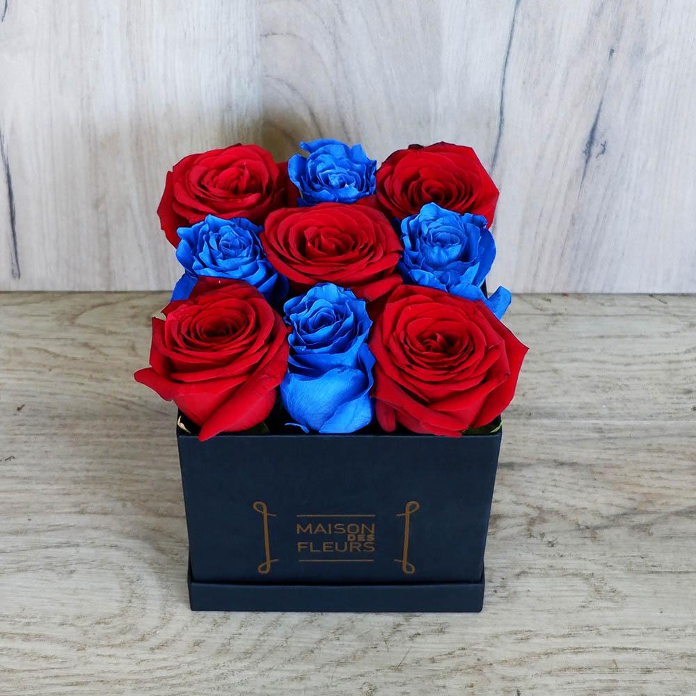 Red - Blue Rose Black Box