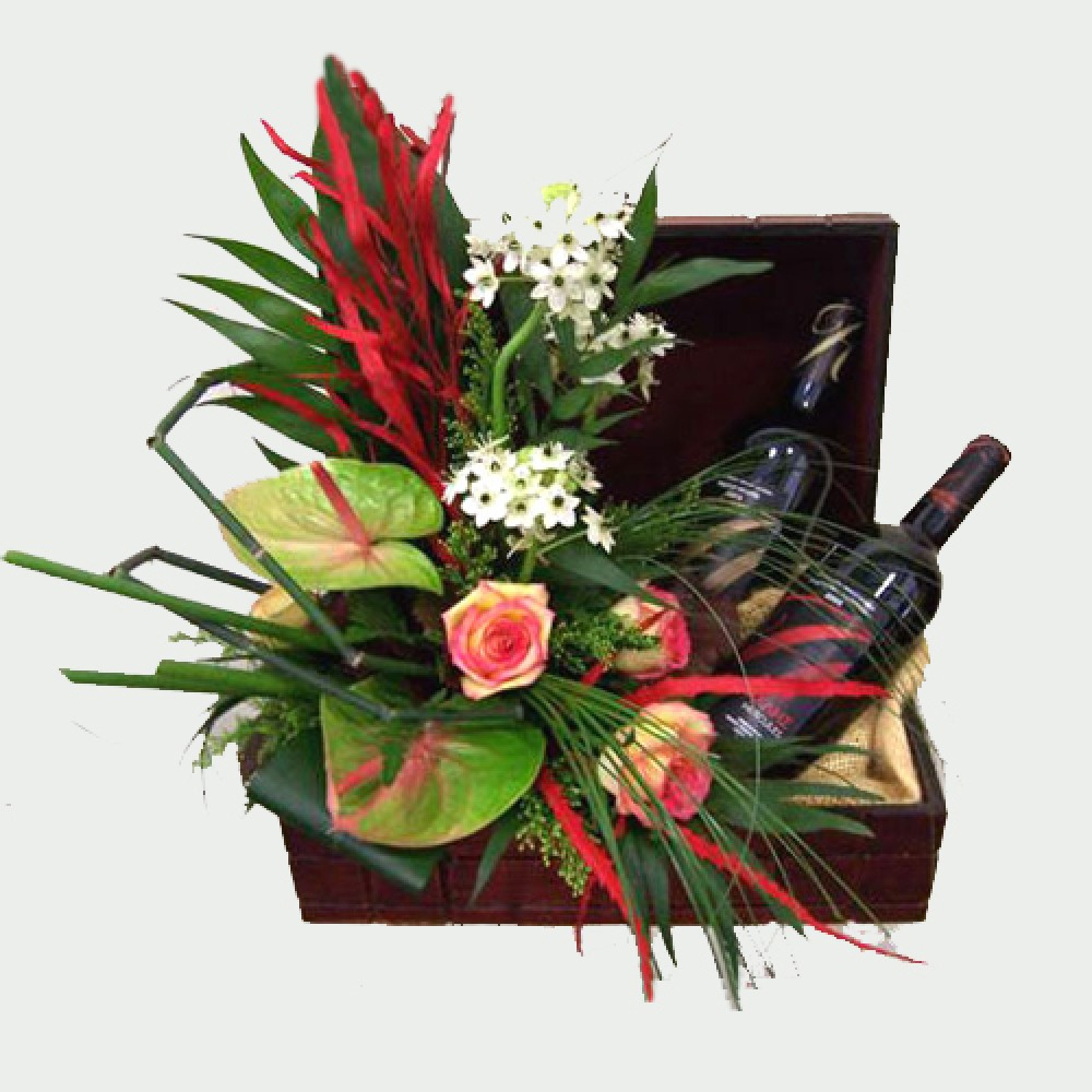 Classic wines & a variety of flowers