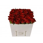 Red Rose White Box - Box with impressive red roses!
